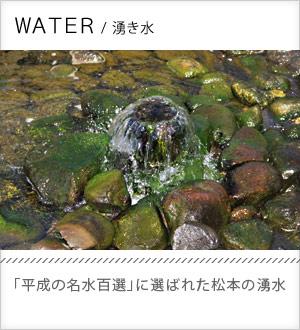 湧き水 「平成の名水百選」に選ばれた松本の湧水